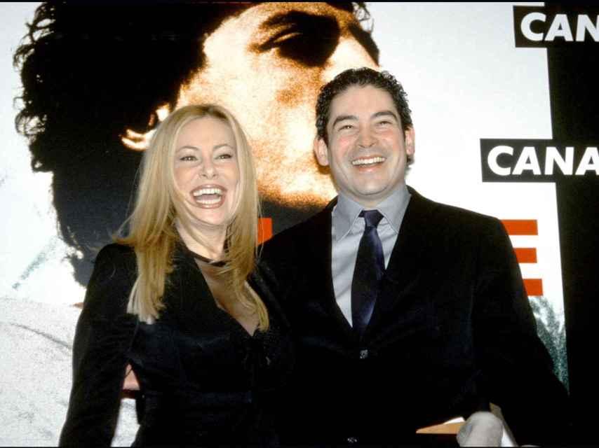 Boris junto a Ana García Obregón en un acto en 2001.