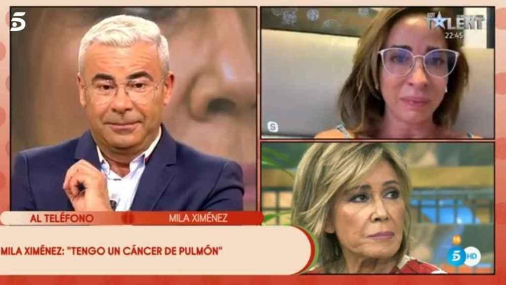 María Patiño rota de dolor ante la noticia de Mila Ximénez.