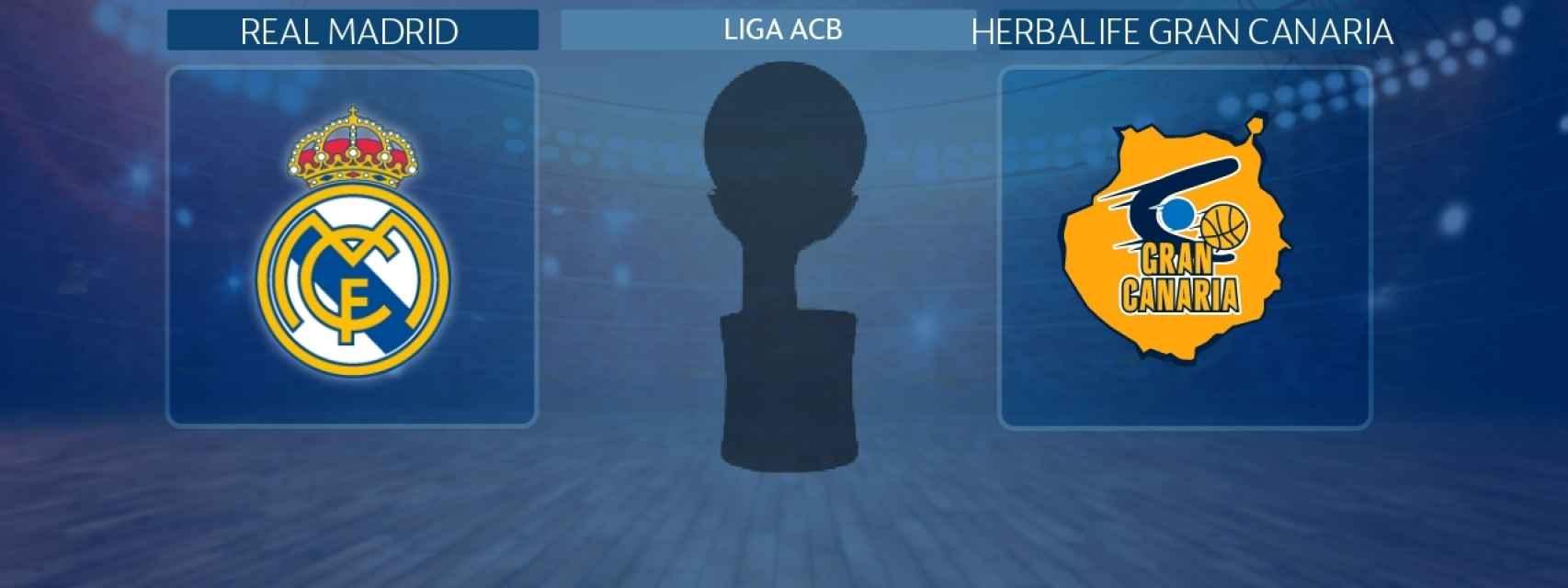 Real Madrid - Herbalife Gran Canaria, partido de la Liga ACB