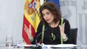 María Jesús Montero, este martes en rueda de prensa. Foto: EP