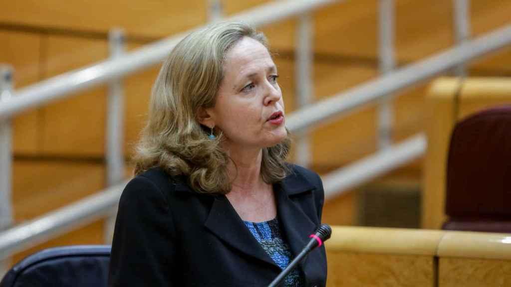La vicepresidencia Nadia Calviño.