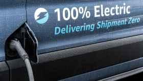 Furgonetas eléctricas de Amazon para las entregas de la última milla.