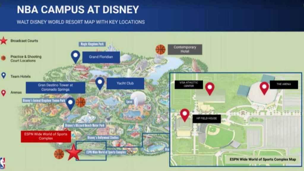 El plan de la NBA en Disney World