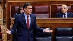 Pedro Sánchez durante la sesión de este miércoles en la Cámara Baja.