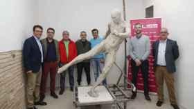La estatua de Andrés Iniesta con la que la ciudad de Albacete le rinde homenaje