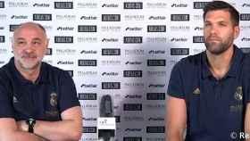 Pablo Laso y Felipe Reyes en la Fase Final de la Liga Endesa