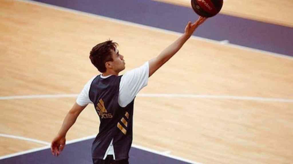 Juan Núñez durante un entrenamiento