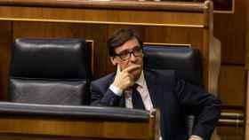 Salvador Illa, en el Congreso de los Diputados.