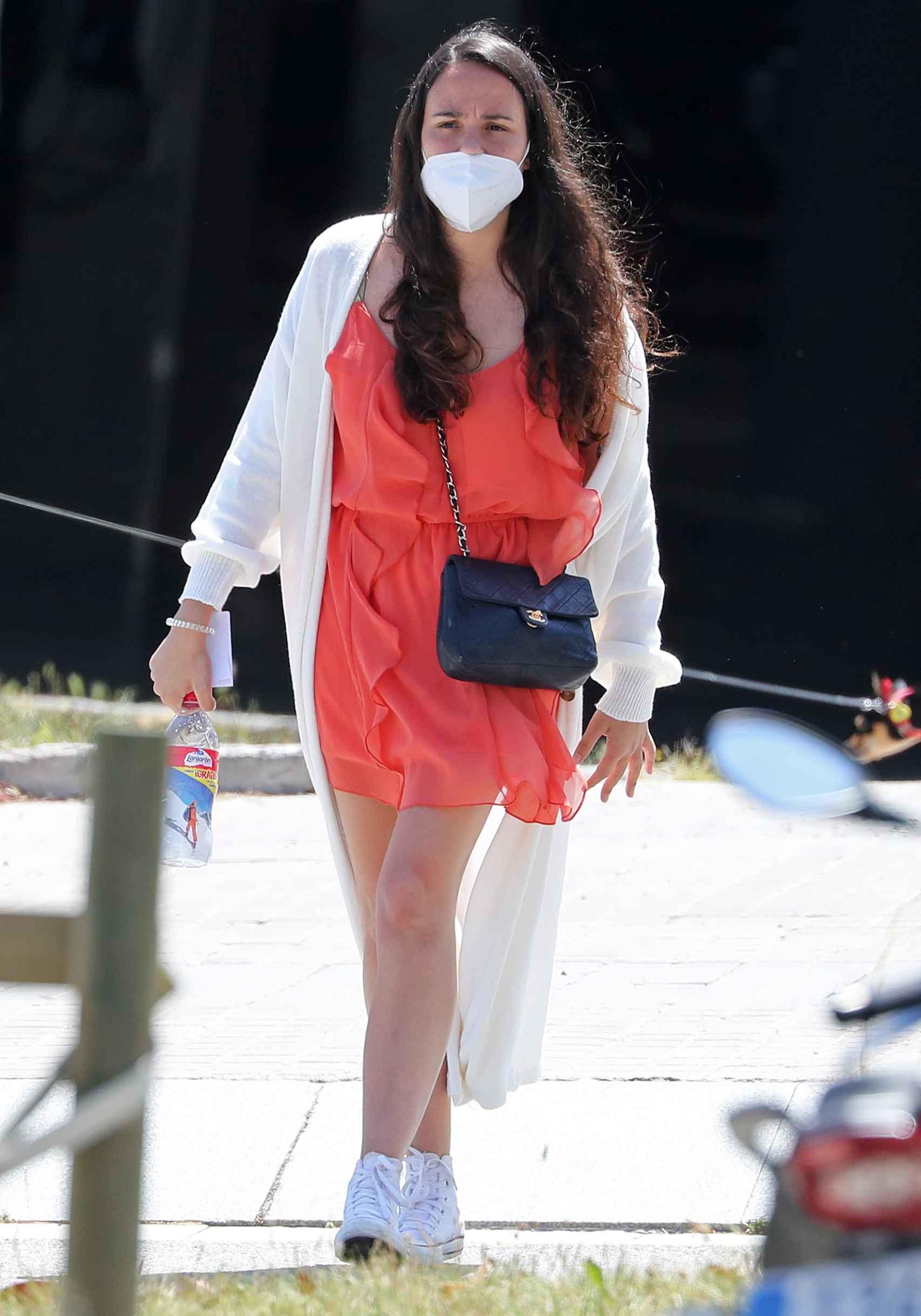 Carolina, en uno de sus paseos por Barcelona.