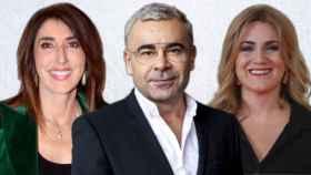 Paz Padilla, Jorge Javier Vázquez y Carlota Corredera en montaje de JALEOS.