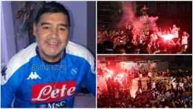 Maradona y la locura en las calles de Nápoles
