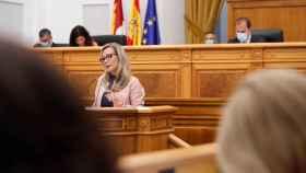 La diputada del PP Lola Merino durante su intervención en el pleno
