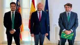 David Hervás Puig, Toni Gaspar y Miguel Ángel Escalante Pinel, de izquierda a derecha