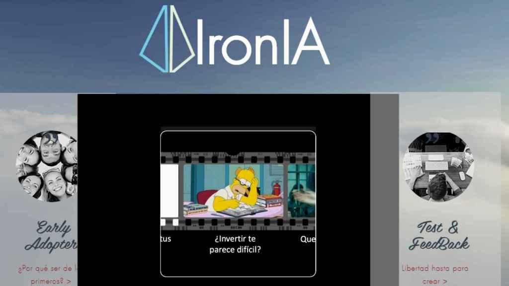 Pantallazo inicial de IronIA, la plataforma digital de fondos de Diaphanum.