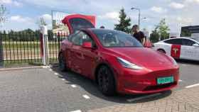 Un Tesla Model Y, en pruebas en Europa