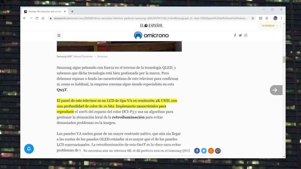 Chrome ahora puede enlazar directamente a partes de una página