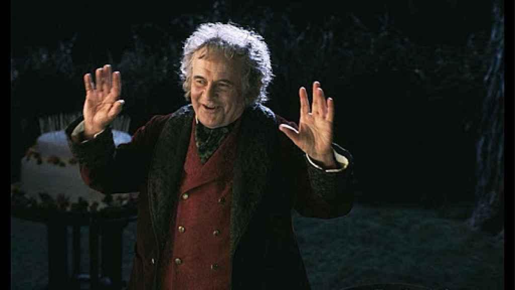 Ian Holm, en su papel de Bilbo Bolsón, en 'El Señor de los Anillos'.
