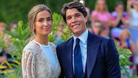 María Pombo y Pablo Castellano, el día de su boda.