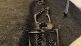 Imagen de la fosa descubierta en Valencia.