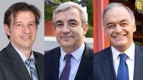 De izquierda a derecha: Javier Moreno (PSOE), Luis Garicano (Cs) y Esteban González Pons (PP).