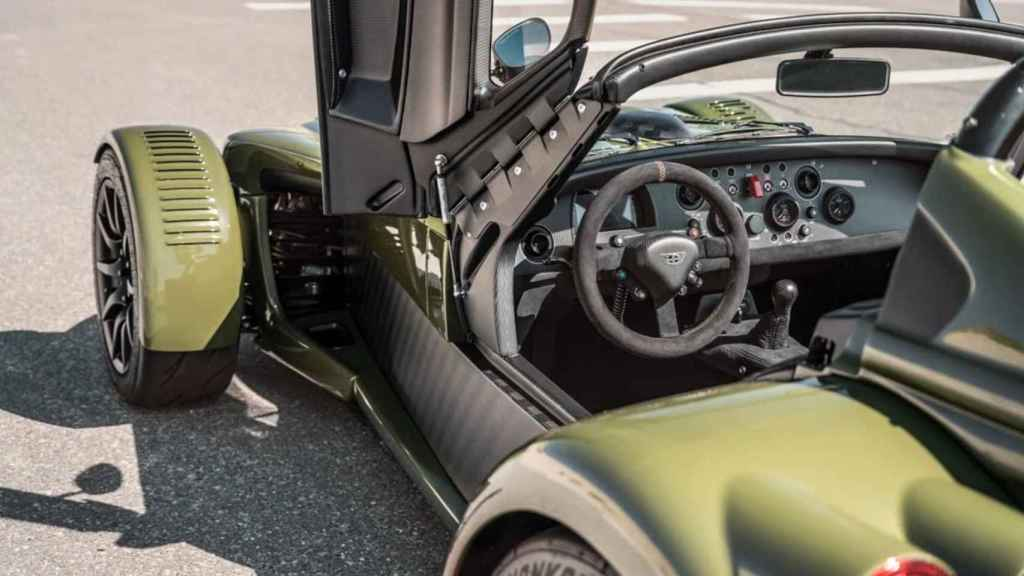 Don't expect any big luxuries inside this nearly £200,000 car