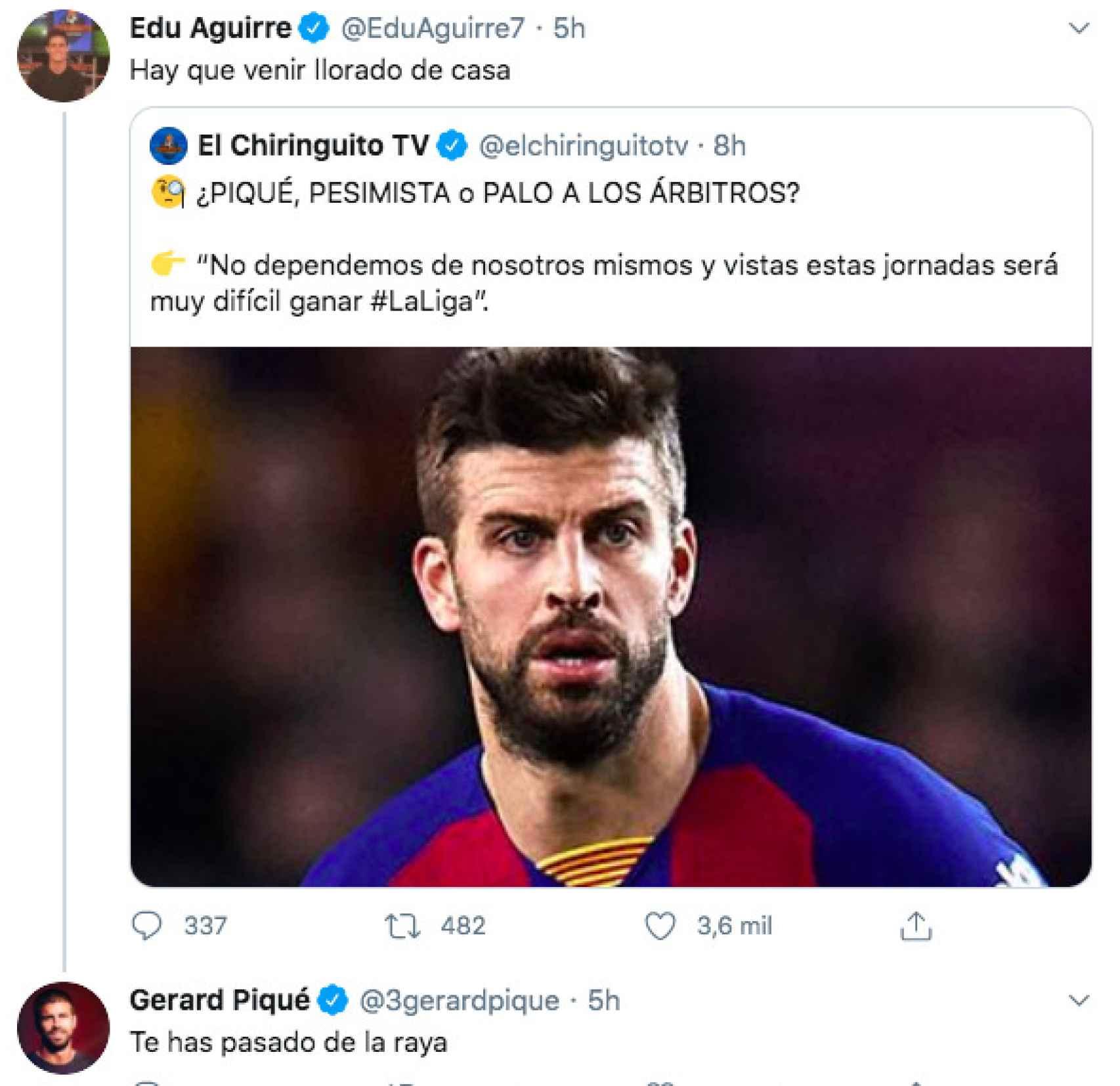 Gerard Piqué ataca a Edu Aguirre, de El Chiringuito