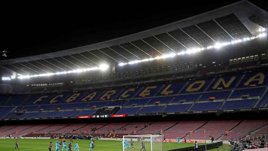 El Camp Nou vacío