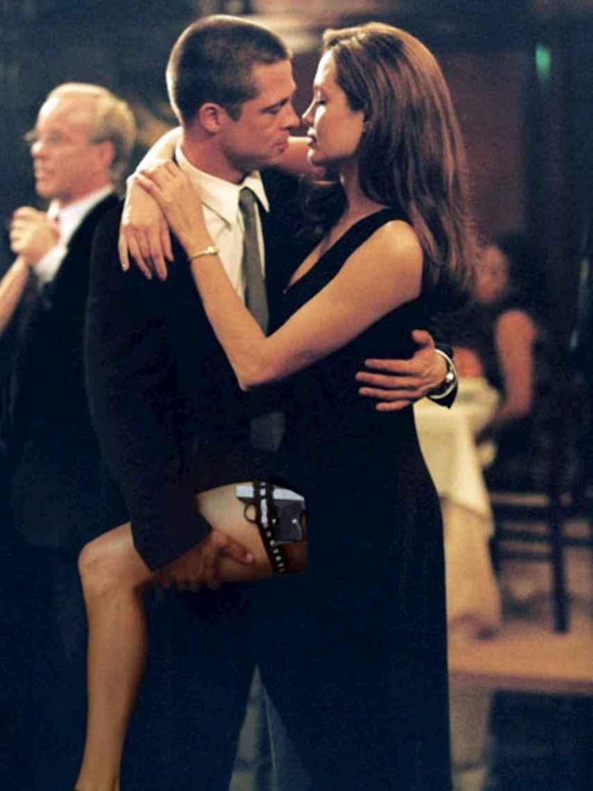 Brad Pitt y Angelina Jolie en una escena de 'Sr. y Sra. Smith'.