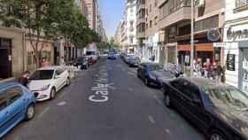 Calle Gaztambide, donde se ha producido el crimen.