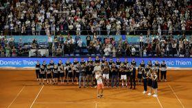 Thiem celebra su triunfo en la final del Adria Tour en Belgrado