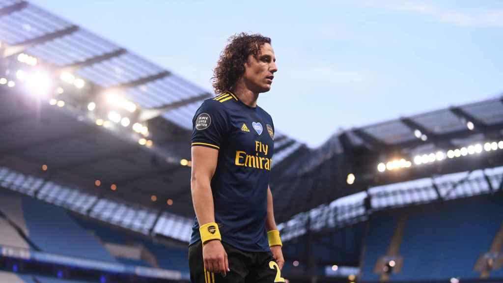 David Luiz, contra el Manchester City