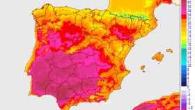 Anomalías de temperaturas máximas en la Península Ibérica durante el episodio de calor. AEMET.