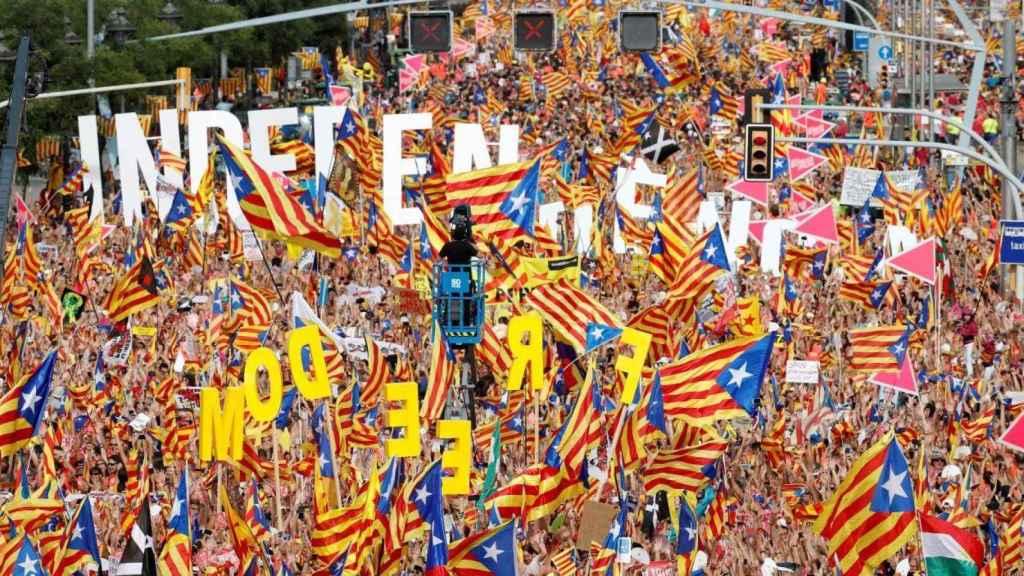 Manifestación de la Diada en Barcelona. Efe.