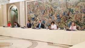 El Rey durante el Consejo de Seguridad Nacional celebrado este lunes. Casa del Rey.