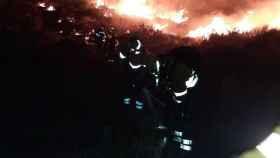 Imagen del incendio de Mojácar. INFOCA.