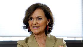 La vicepresidenta primera del Gobierno, Carmen Calvo.