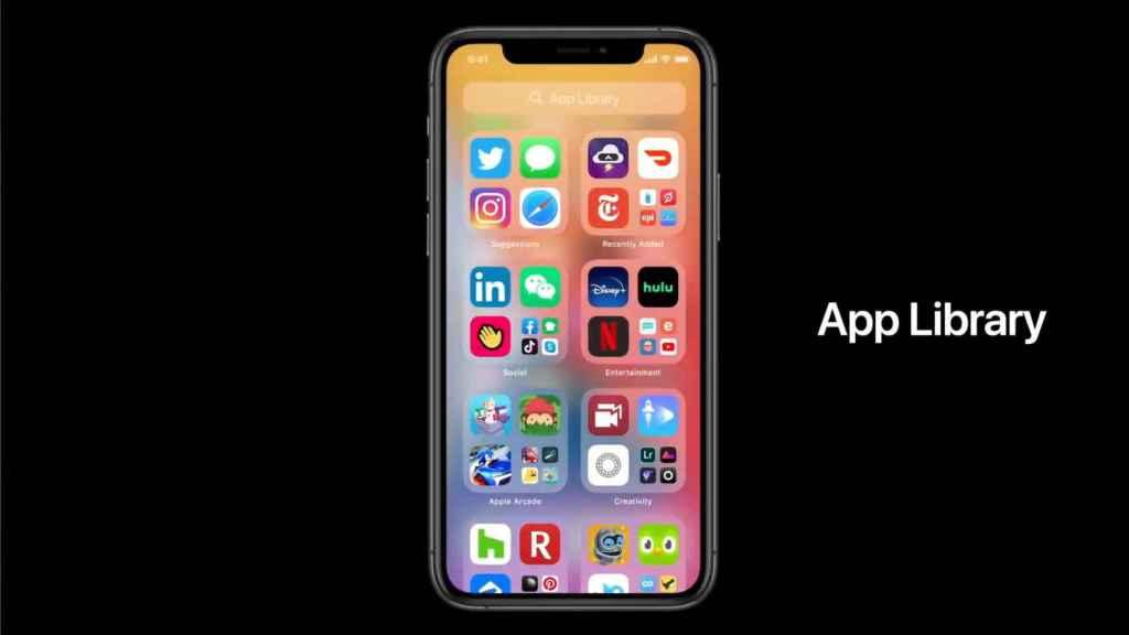 Nueva librería de apps en iOS 14