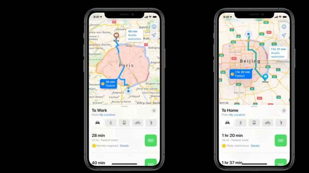 Apple Maps en iOS 14