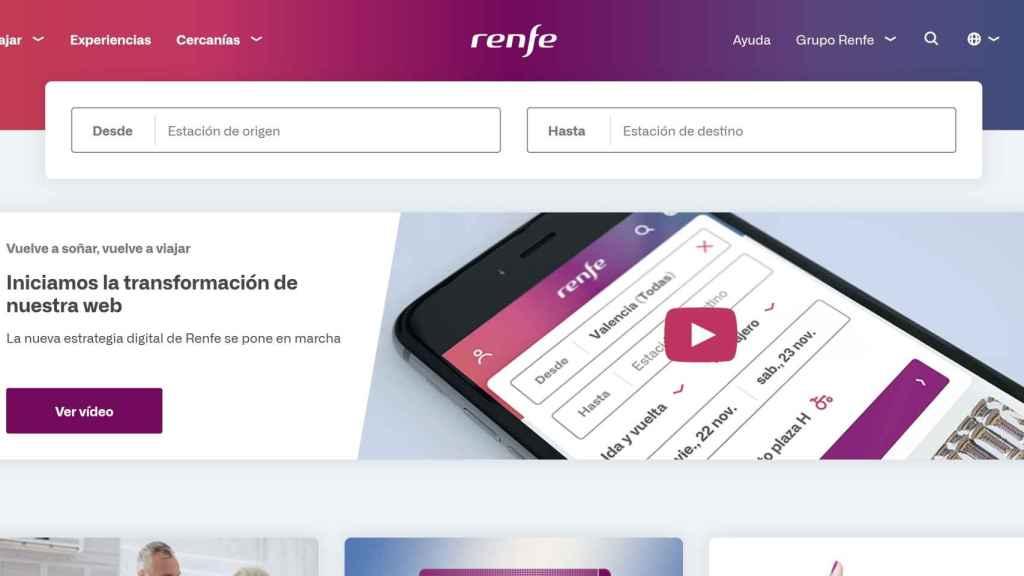 Nueva web de Renfe.