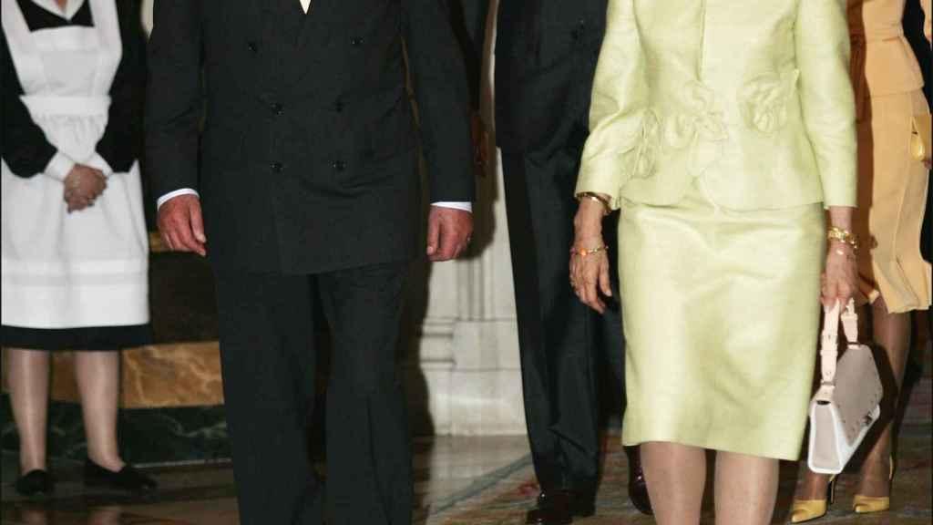 La recepción con motivo del santo de Juan Carlos en el año 2004