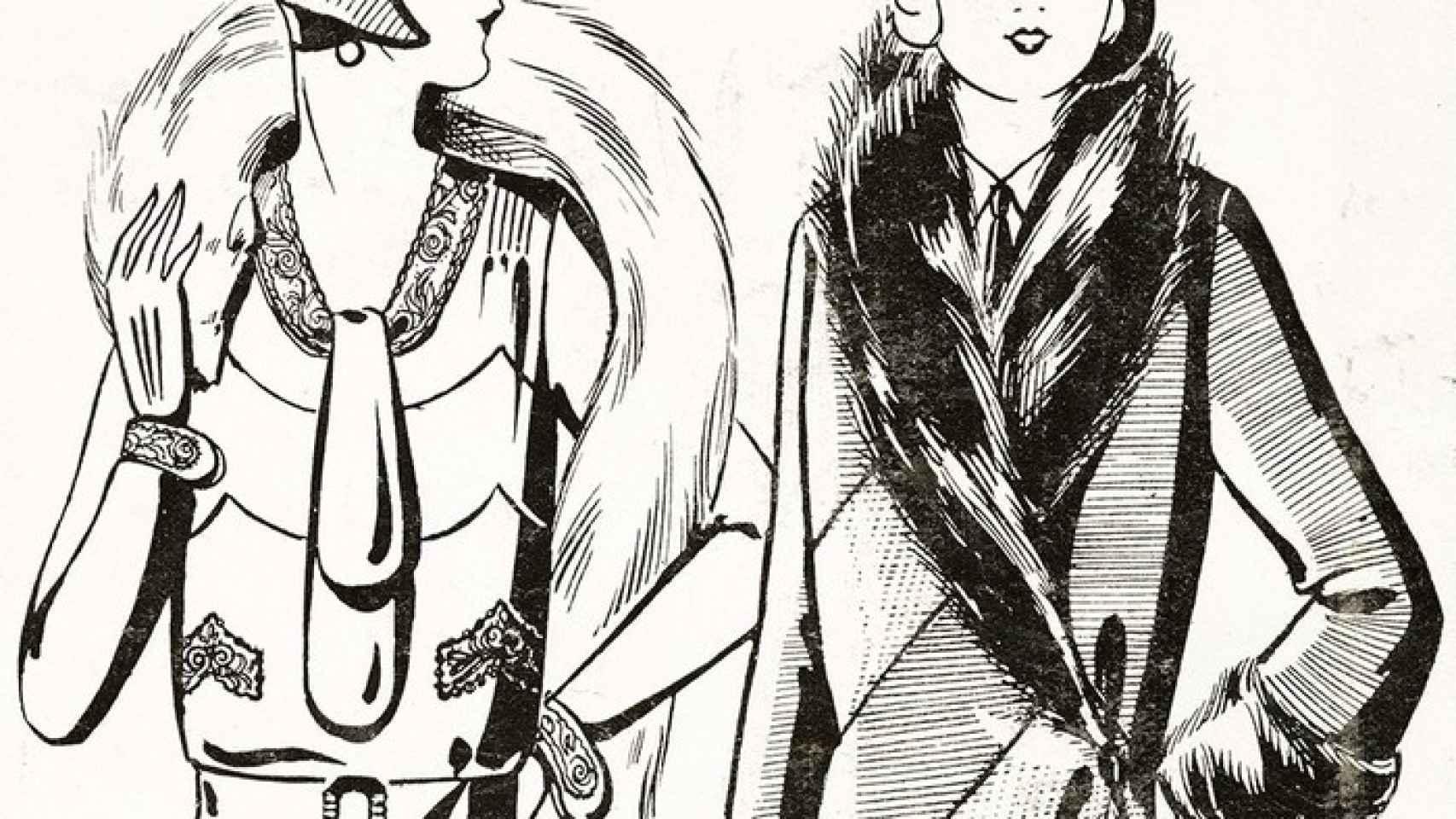 Cartel de la exposición de la moda en los años 20.