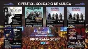 Imagen del programa del Festival Solidario Ciudad de la Raqueta