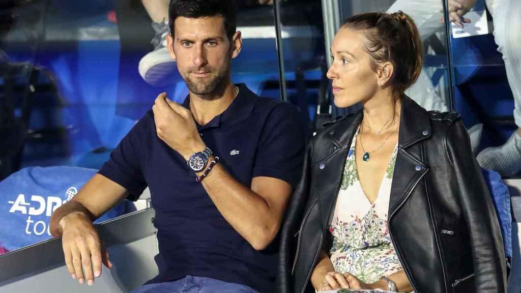 Djokovic y su mujer Jelena