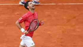 Novak Djokovic durante un partido