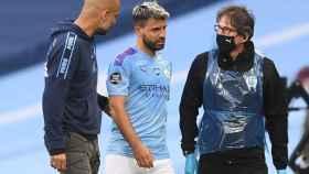 Guardiola y 'Kun' Agüero hablan tras la lesión del futbolista argentino