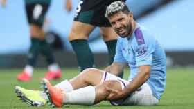 El 'Kun' Agüero se lesionó durante el partido del Manchester City ante el Burnley