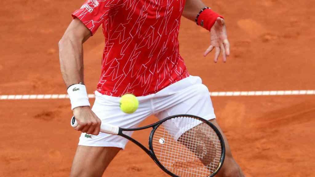 Novak Djokovic, durante un partido del Adria Tour