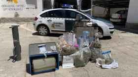 La droga incautada por la Guardia Civil en Lucillos (Toledo)
