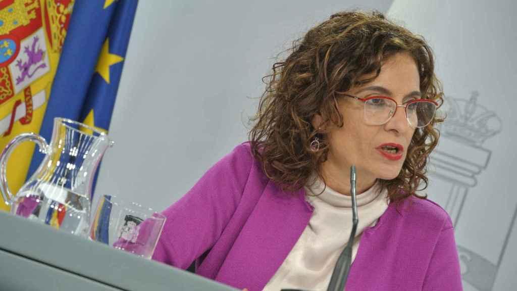 María Jesús Montero, ministra portavoz, en Moncloa.