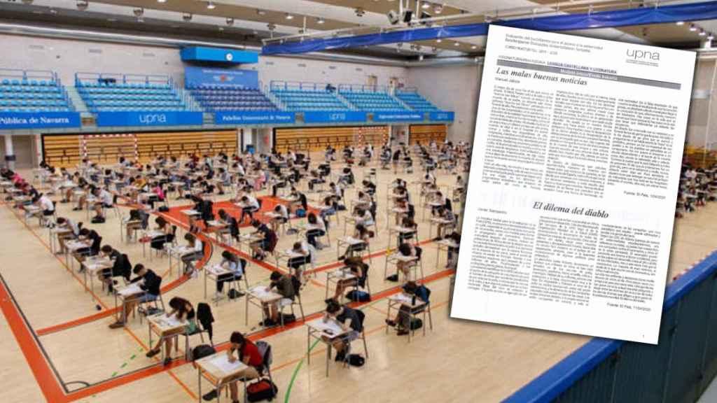 El examen de Lengua de la primera EvAU, en Navarra,  tras el Covid-19.